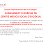 CMS EXCIDEUIL Affiche nouvelle adresse